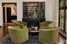 Regency Living Room Design Ideas Hollywood Olive Green Tufted Swivel Chairs