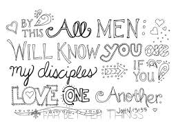 Bible Verse Coloring Page John 1335 Love One Another