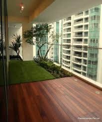 Runnen Floor Decking Outdoor Brown Stained by Outdoor Balcony Flooring Ideas