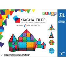 Picasso Magnetic Tiles Vs Magna Tiles by Valtech Magna Tiles Clear Colors 74 Piece Set Target