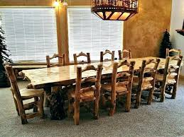 Distressed Wood Dining Table Modern Rustic Chairs Room Sets Polished