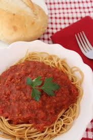 Tomato Sauce With Choice Pasta Lunch Dinner Menu Olive