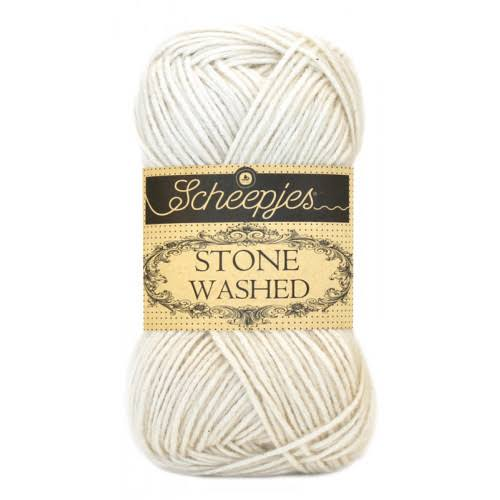 Scheepjes Stone Washed Yarn - 801 Moon Stone, 50g