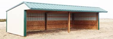 custom loafing shed three sider all specialty buildings inc