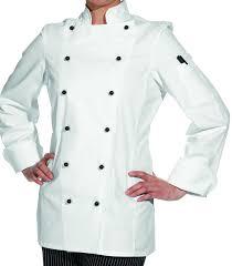 blouse cuisine veste de cuisine femme manches longues cintrée coton sergé