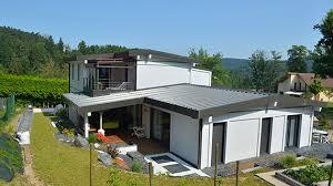bac a avec toit maison contemporaine toit bac acier sous sol chaios