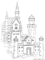 Full Size Of Coloring Pageexquisite Easy To Draw Castle Drawing Tutorials Art Page Large