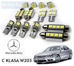 interior car led bulbs replacement kit for mercedes c class