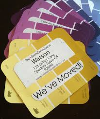Paint Chip Housewarming Party Invitations