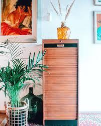 reloved vintage storage cabinet with sliding door useful