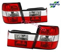 89 95 bmw e34 5 series 4d sedan euro red clear tail lights depo 4