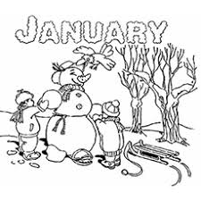 Make A Snowman Month Of January Coloring Page