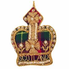 Flag Of Scotland Nollaig Chridheil Ornaments Green Bauble Christmas