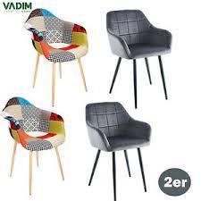 details zu 2er set esszimmerstühle lounge sessel mit metallbein wohnzimmer küchenstuhl