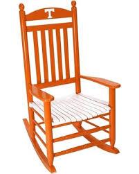 bargains on tennessee volunteers rocking chair orange white