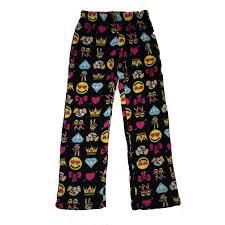so nikki u0027s super soft fleece pajama pants emoji emoji