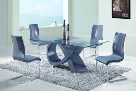 Ortanique Round Glass Dining Room Set by Contemporary Grey Glass Mdf Acrylic 5pc Dining Room Set The