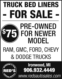 Truck Bed Liners For Sale, Red's Auto Sale, Ironwood, MI 52018 F150 55ft Bed Tonneau Accsories Raptor Tintable Urethane Sprayon Truck Liner Kittray Brush Encouragement Napier Sportz Or Suv Air Mattress Bed Protective Base Liners Layer For Pickup Used Chevy Toyota Mat Youtube Sacramento Campways Dualliner System Fits 2011 To 2016 Ford F250 And F Dodge Ram 1500 Undliner For Drop In Hculiner Truck Liner Installation 72018 F350 Dzee Heavyweight Long Dz87012 Shop Hculiner Quart Black At Lowescom