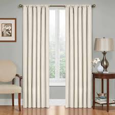 European Cafe Window Art Curtains by Eclipse Curtains Kendall Blackout Energy Efficient Curtain Panel