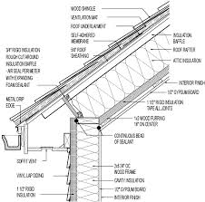 vented roof for cold climate cathedral ceiling wood shingle