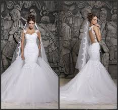 cheap plus size mermaid wedding dresses 2016 half long sleeve