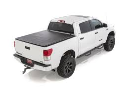 Soft Tri-Fold Bed Cover For 2007-2013 Toyota Tundra   Rough Country ... Weathertech Roll Up Truck Bed Cover Installation Video Youtube Back Rack With Tonneau Covers Toyota 2006 11unique Tundra Papnjhighlandscom Dodge Ram Reviews Fresh Rollbak Tonneau Retractable Bak Industries 1162405 Bakflip Vp Vinyl Series Hard Folding New 2018 All New Toyota Model Review Toyota 55 Beautiful Removable Extang 83470 42018 8 Without Cargo