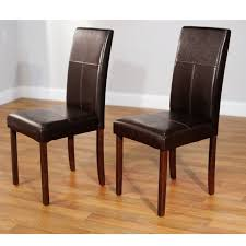 Leather Parsons Dining Room Chairs Enchanting Ideas Collection Terrific Black Fantastic Parson