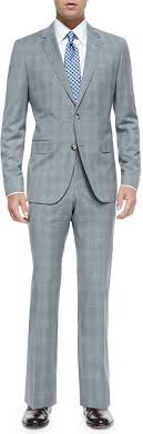 hugo plaid suit 597 grey plaid suit hugo plaid two suit