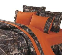 Blaze Orange And Camouflage Sheet Set Is Designed For The Outdoorsman This A