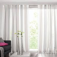 gardinen deko gardinen weiß grau gestreift gardinen