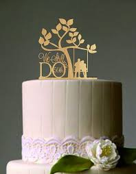 50 th Vow Renewal or Anniversary Cake Topper We Still Do Rustic