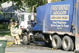 Ruptured Hose Causes Garbage Truck Fire | Public Safety ...