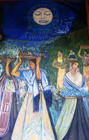 David Alfaro Siqueiros Murales Bellas Artes by Fragmento Del Mural U201cgente Y Paisaje De Michoacán U201d Alfredo Zalce