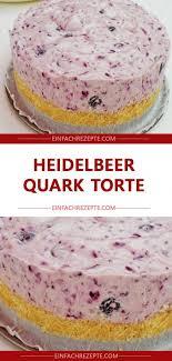 heidelbeer quark torte