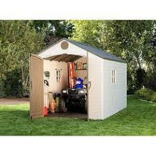 sam s club lifetime 8 x 10 outdoor storage shed backyard