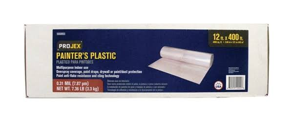 Projex 5660865 0.31 Mil 12 x 400 ft. Plastic Sheeting - Clear