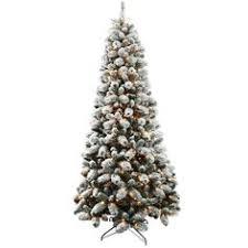 Mountain King Christmas Trees 9ft by King Of Christmas 7 Foot Prince Flock Artificial Christmas Tree