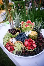 Outdoor Fruit Salad Wedding Food Ideas