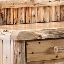 light rustic barnwood furniture by woodland creek s log furniture