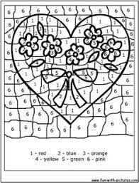 Number Coloring Pages Color By Valentine Kids