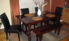 Diy Farmhouse Table And Bench Plans Along With Dining Room Chair