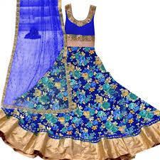 buy blue bhagalpuri silk anarkali suit for womens online india