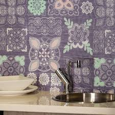 Pastel Lace In Grey Patterned Glass Splashback