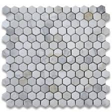 calacatta gold 1 inch hexagon mosaic tile tumbled marble from