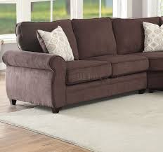 sectional sofa w sleeper 53375 in chocolate chenille