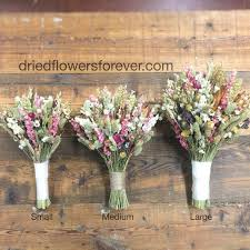 Pink Vintage Dried Wildflower Bouquet