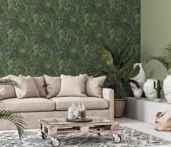 erismann 10081 07 instawalls 2 wandtapete floral vlies tapete grün modern muster