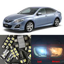 12pcs xenon white led light bulbs interior package kit for mazda 6