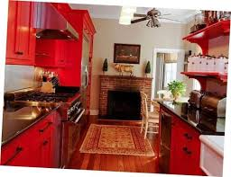 Kitchen Wall Decor Frame Glossy Red