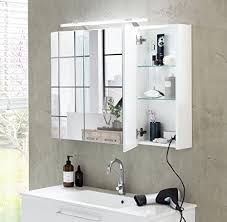 schildmeyer spiegelschrank weiß 80 x 75 x 16 cm